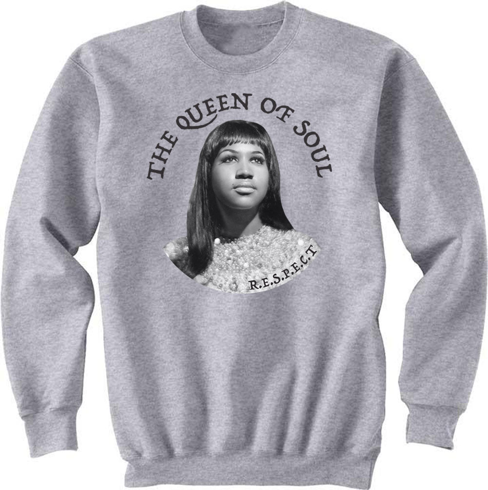 Aretha Franklin Sweat Shirt - Queen of Soul  Sweat Shirt