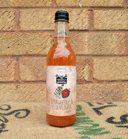 H&P Elderflower and Strawberry Soda 250ml x 8