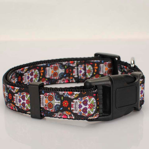 "1""25mm Tattoo Skulls Dog Collar  2 sizes avaiable"