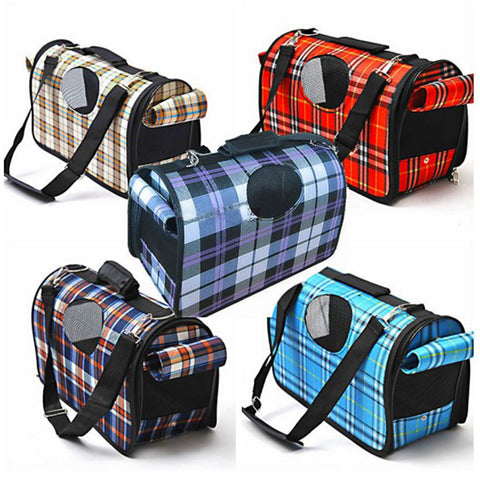 Breathable Grid Small and Medium Dog Travel Bags