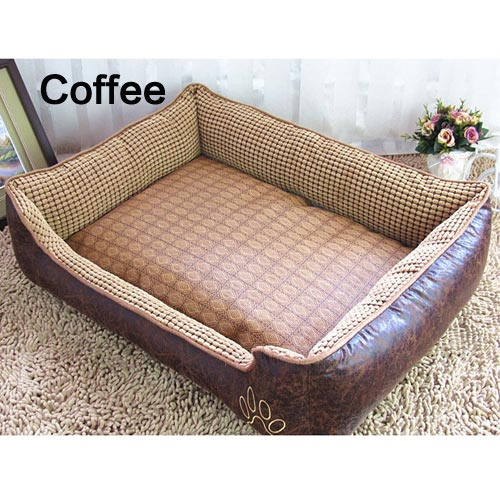 Big Size Waterproof PU leather dog Warm Bed
