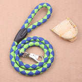 Durable Nylon Dog Braided Leash for Large Dogs