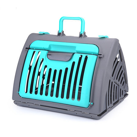 1pcs Foldable Plastic Portable Suitcase Travel Carrier for small pets.  Easy to Carry New Design