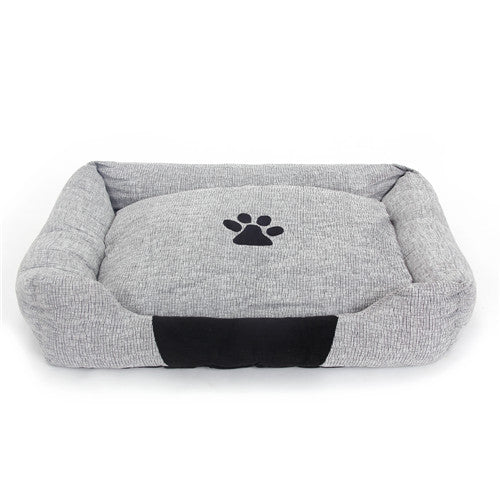 90*65cm Big Size Bed For Large Dog, Gray Cotton Sofa