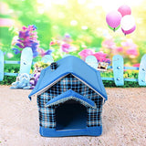 Striped Removable Cover dog house bed