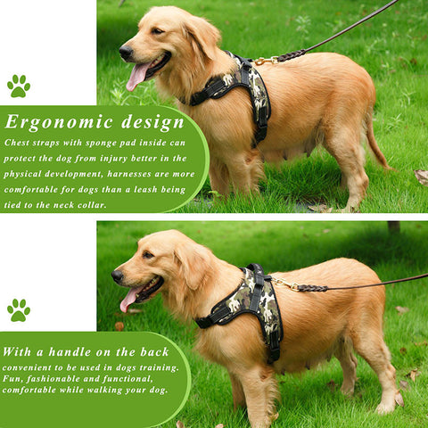 ABEDOE Large Dog Harness Padded Chest Strap Heavy Duty with Handle very Comfortable