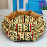 Coral Cashmere Totem Hexagonal Dog Bed