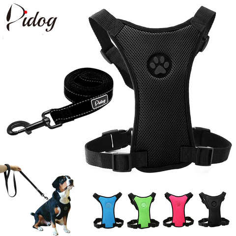 Mesh Nylon Harness and Leash Set Pet For Small Medium Large Pets