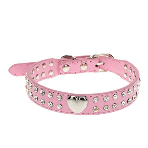 3 Sizes Fashion Bling Crystal Pet Collar