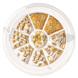 Capri Metal Studs Collection Gold 300pc