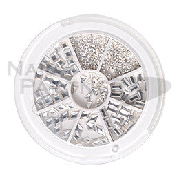Capri Metal Studs Collection Silver 300pc