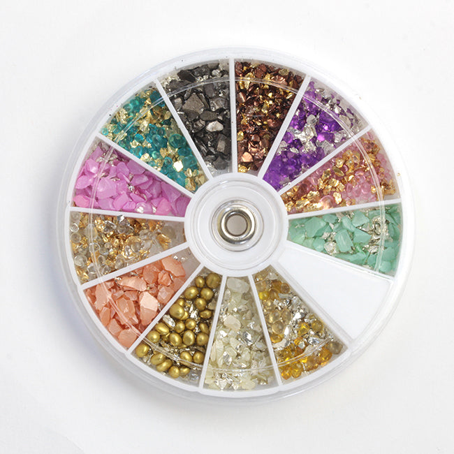 SHAREYDVA Mix Glass Beads Palette