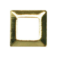 Jewelry Nail LP-8018 3D Square Frame Stud-Gold 3mm 50pc