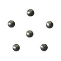 Love Charm Color Studs Round Charcoal Grey 1.5mm 50pc