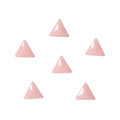 Love Charm Color Studs Triangle Peach Beige 3mm 50pc