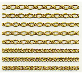 Bibi Deco Nail Sticker bi-42G Gold Chain 1sheet
