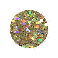 Erikonail ERI-178 Jewelry Collection Gold Sparkle Round Hologram 1.5mm