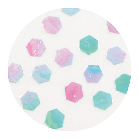 Erikonail ERI-188 Jewelry Collection Pastel Pearl Green Hexagon Hologram 2.5mm
