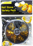 Beauty Nailer Nail Stone Variety Pack Gold Triangle 360pc