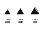 Beauty Nailer Nail Stone Variety Pack Black Triangle 360pc