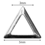 Pieadra Studs Triangle Frame Silver 3mm 100pc