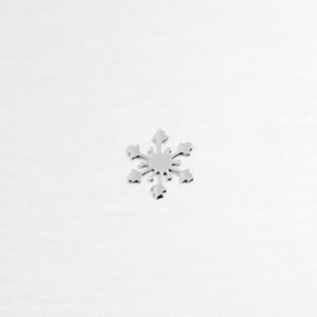 Jewelry-Nail PW Snow Crystal Silver SS(15P)