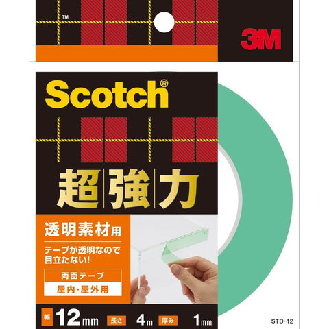 3M Scotch Double-Sided Tape Clear STD-12