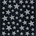Pieadra Nail Sticker Silver Star 1sheet