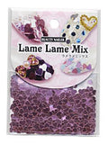 BN Lame Lame Mix LLM-4 Pink Heart 3mm & 4mm Mix