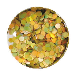Erikonail ERI-71 Jewelry Collection Gold Rainbow Round Hologram 2mm