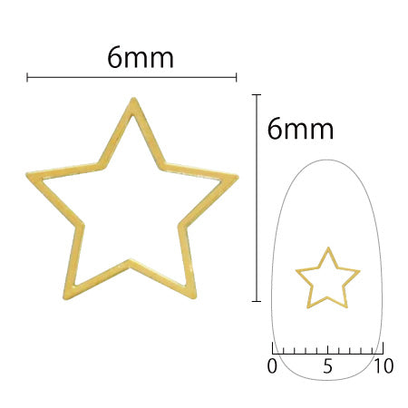 SHAREYDVA Soft Star 6mm Gold 6P