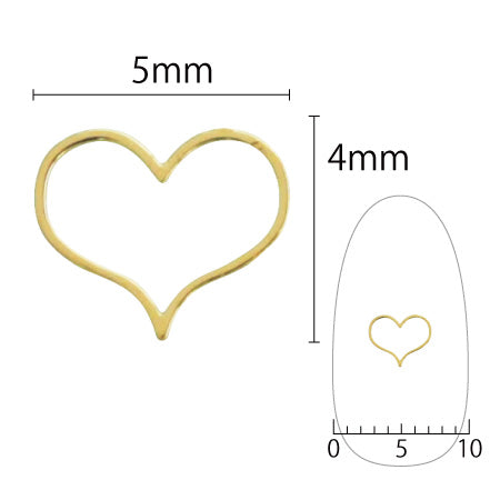 SHAREYDVA Soft BettyHeart 5mm Gold 8PC