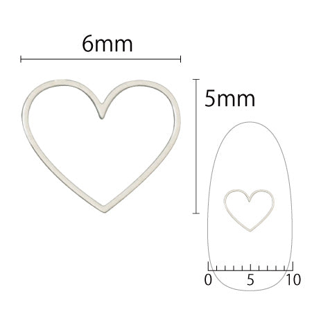 SHAREYDVA Soft Heart 6mm Silver 6PC