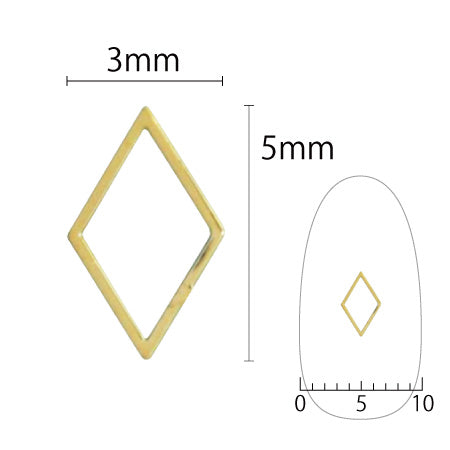 SHAREYDVA Soft Diamond 3mm x 5mm Gold 8P