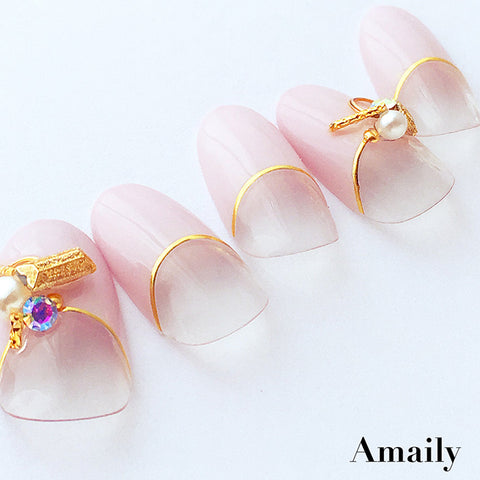 Amaily Nail Sticker No. 5-17 Gold Lines