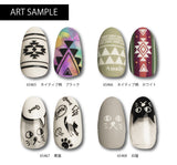 Amaily Nail Sticker No. 5-13 Black Native-American Inspired Design
