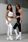 LA Leggings - Cream / White - Neo Activewear