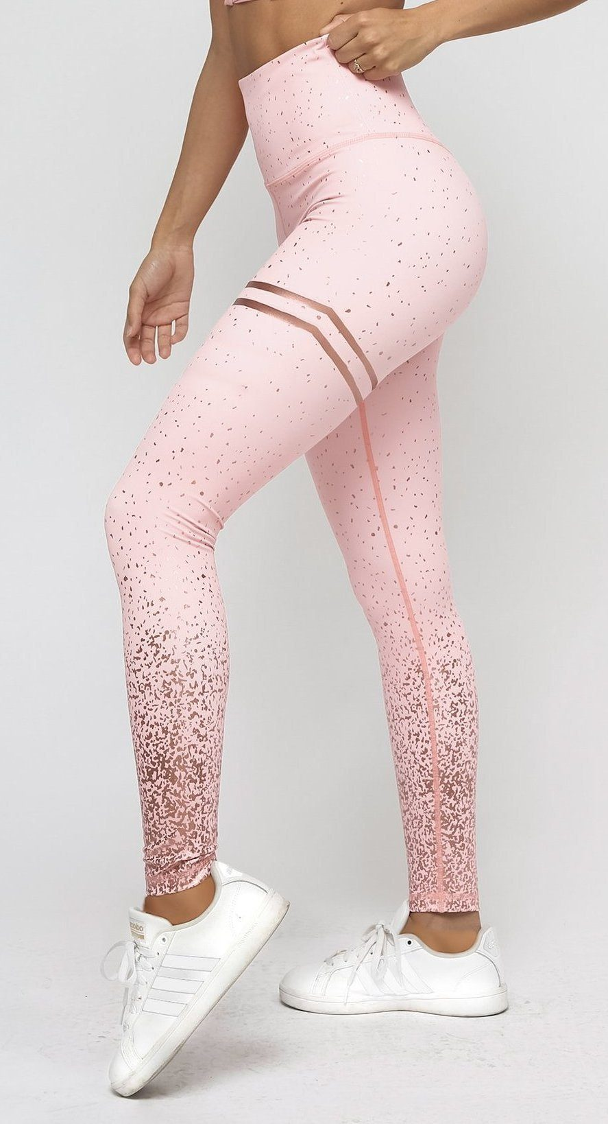 c7518acaf19014 Sparkle Leggings - Pink / Rose Gold - Neo Activewear