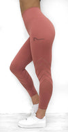 Athena Seamless Leggings - Rouge - Neo Activewear