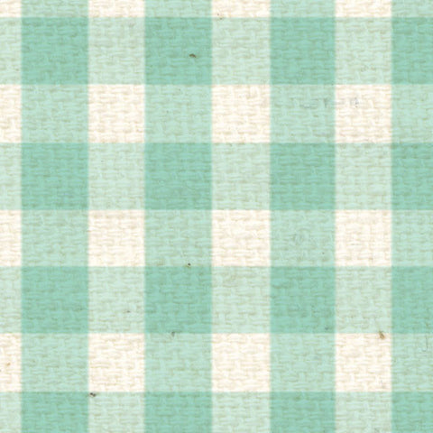 *SFG8  Sea Foam Gingham Paper  8 1/2 x 11