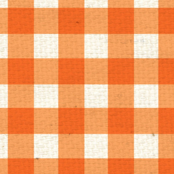 *OPG8  Orange Poppy Gingham 8 1/2 x 11
