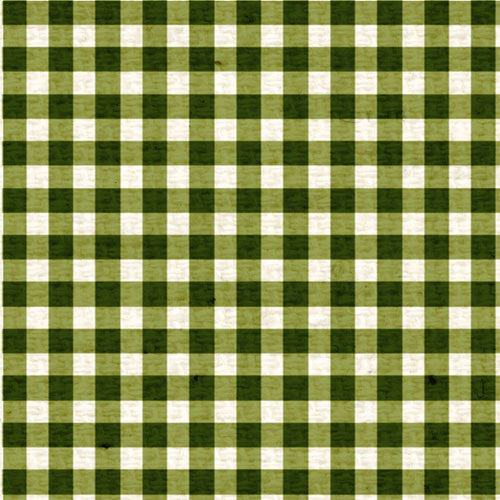 **IWGMG12 Inch Worm Green Mini Gingham 12 x 12