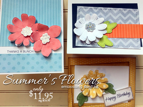*******Summers' Flowers Card Kit