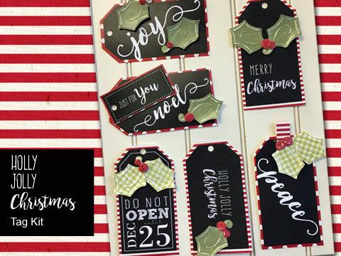Holly Jolly Christmas Tag Kit