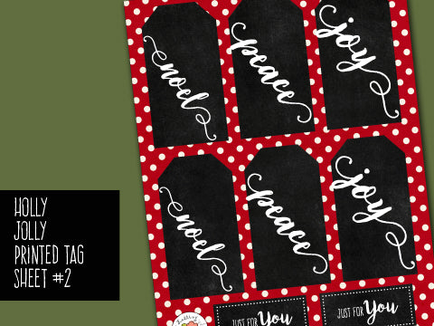 *******Holly Jolly Tags Sheet 2