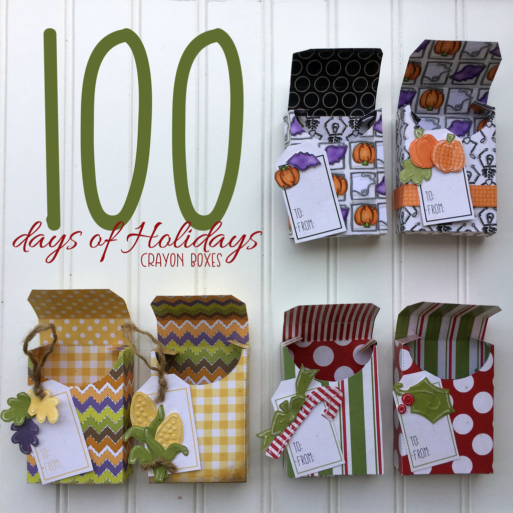 100 Days of Holidays Crayon Boxes Kit - Set of 6
