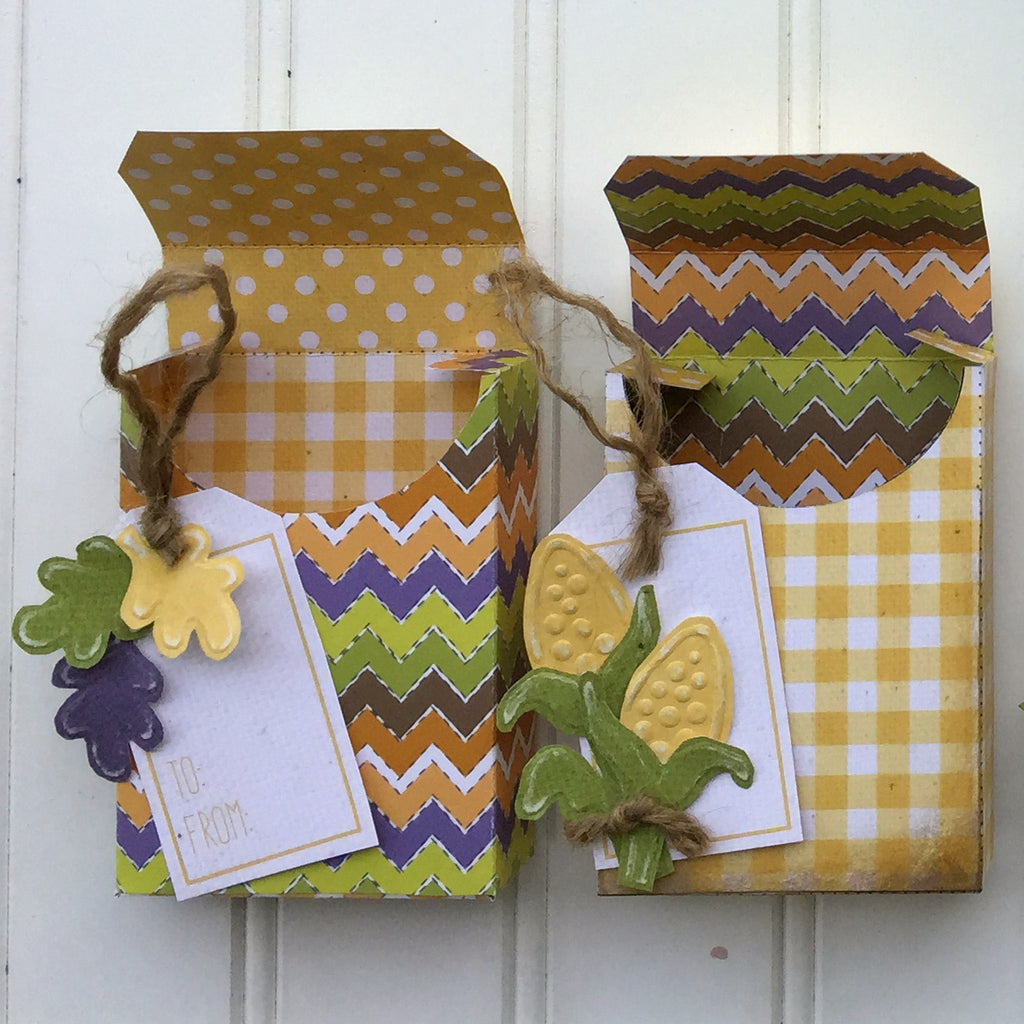 Fall Harvest Crayon Boxes - set of 2