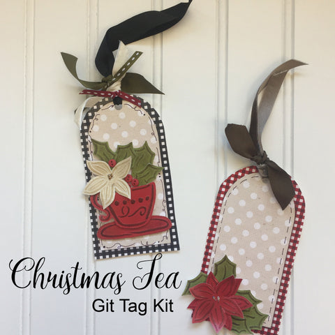 Christmas Tea Gift Tag Set - Set of 12