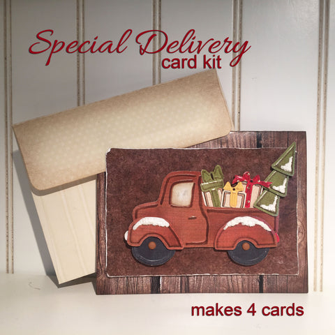 Special Delivery Embossing Card Kit - Set of 4