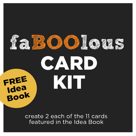 ********faBOOlous Card Kit for Halloween & Fall - Includes FREE Idea Book